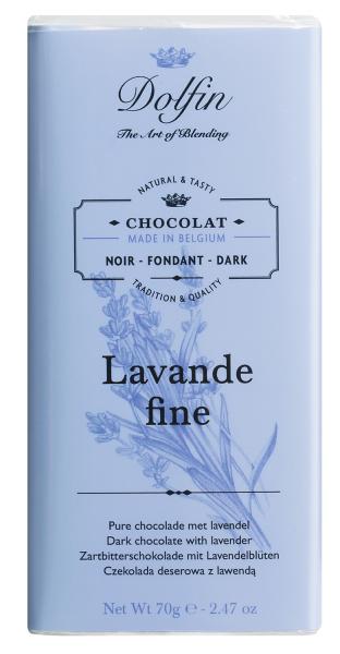 Dolfin Zartbitterschokolade mit Lavendel und Vanille