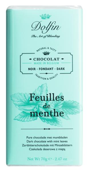 Dolfin Zartbitterschokolade mit Minze