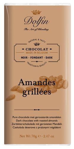 Dolfin Zartbitterschokolade mit Mandeln