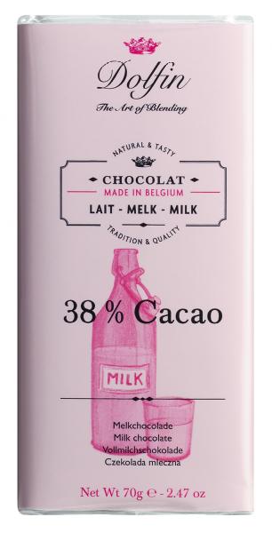 Dolfin Vollmilchschokolade Edelvollmilch, 38%